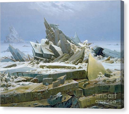 Wreckage Canvas Print - The Polar Sea by Caspar David Friedrich