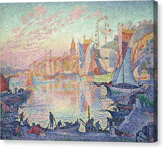 Divisionism Canvas Print - The Port Of Saint-tropez by Paul Signac