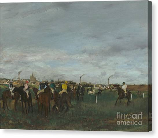 Edgar Degas Canvas Print - The Races by Edgar Degas