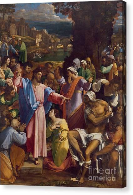 Resurrected Canvas Print - The Raising Of Lazarus by Sebastiano del Piombo