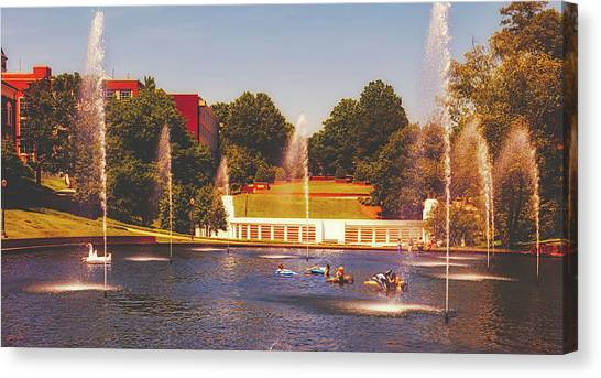 Clemson Canvas Print - The Reflection Pond - Clemson University by Library Of Congress