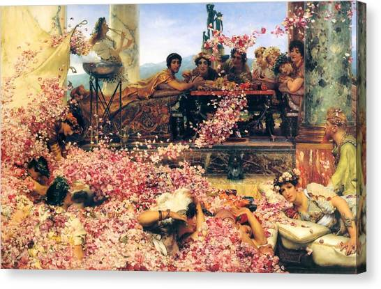 The Roses Of Heliogabalus Canvas Print