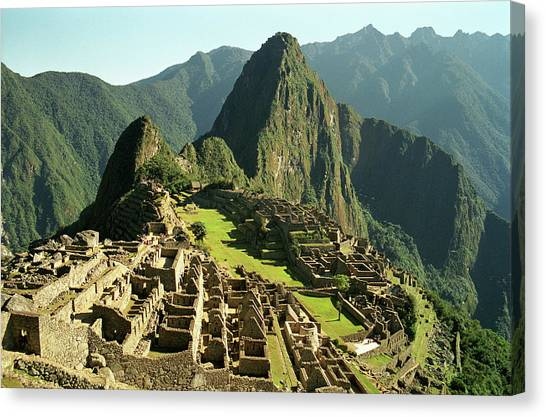 Peruvian Canvas Print - The Ruins Of Machu Picchu, Peru, Latin America by Brian Caissie