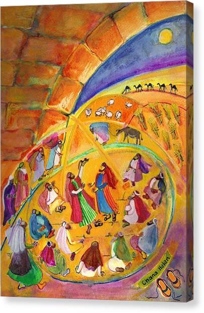 The Sandal Ceremony Canvas Print by Chana Helen Rosenberg
