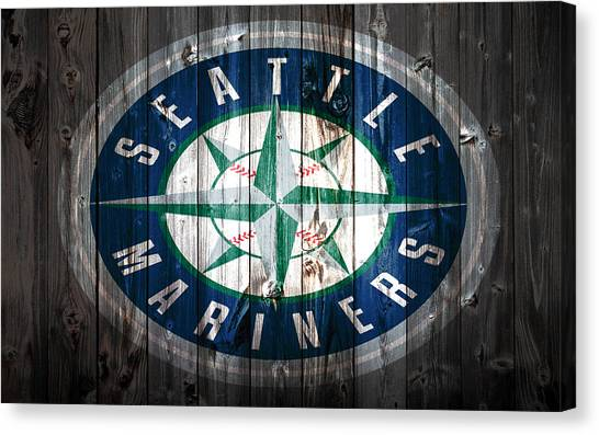 Seattle Mariners Canvas Print - The Seattle Mariners 1a by Brian Reaves