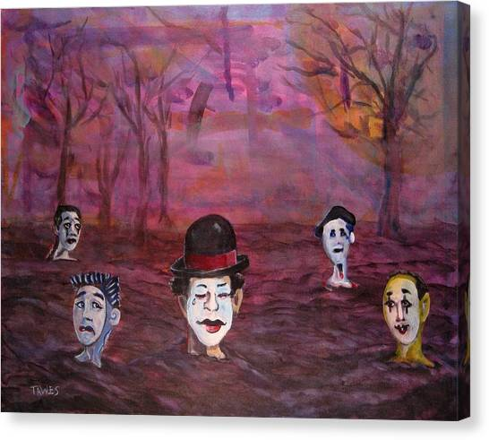 The Silence Of The Mimefield Canvas Print