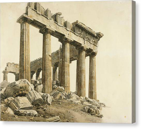 The Parthenon Canvas Print - The South-east Corner Of The Parthenon, Athens by Treasury Classics Art