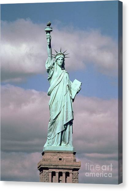 New York City Canvas Print - The Statue Of Liberty by American School