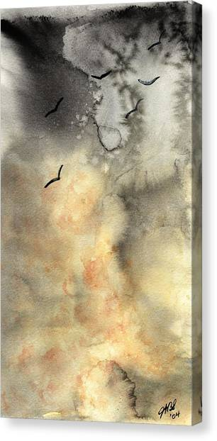 The Storm Canvas Print by Joyce Ann Burton-Sousa