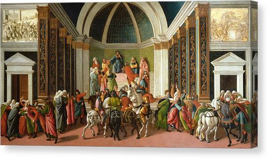 Botticelli Canvas Print - The Story Of Virginia by Sandro Botticelli
