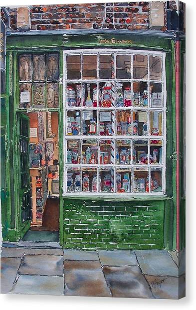 The Sweet Shop Canvas Print by Victoria Heryet