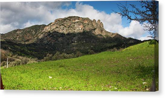 The Three Finger Mountain Canvas Print