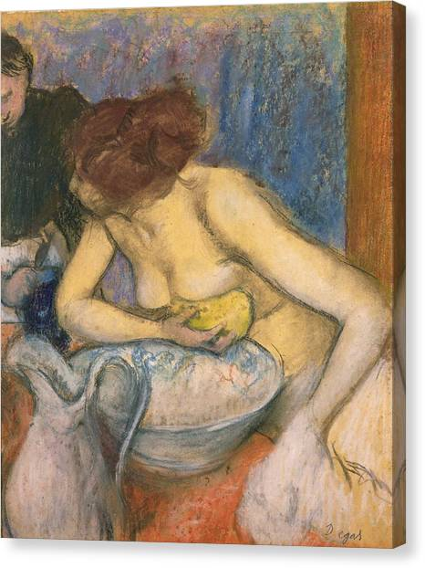 Wash Basins Canvas Print - The Toilet by Edgar Degas