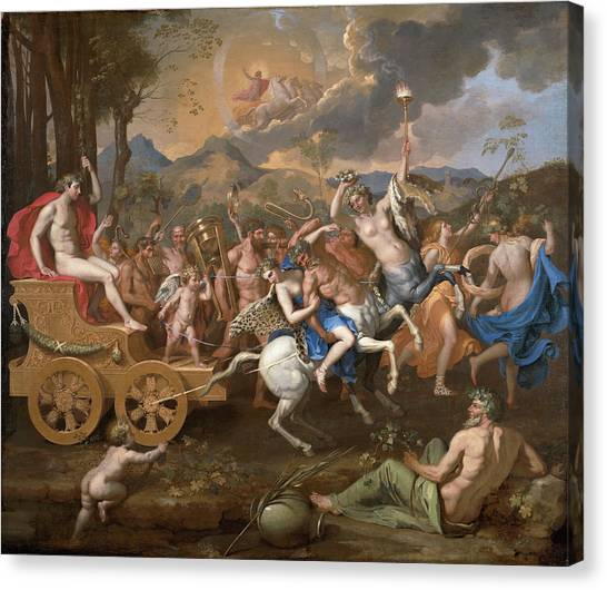 Centaurs Canvas Print - The Triumph Of Bacchus by Nicolas Poussin