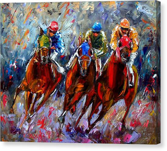 Equestrian Canvas Print - The Turn by Debra Hurd