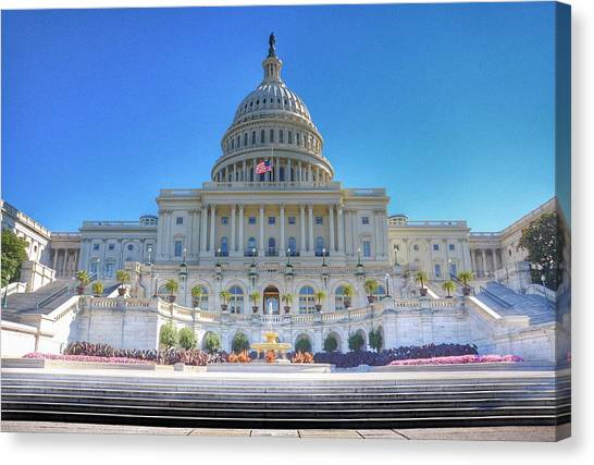 Capitol Building Canvas Print - The Us Capitol Building - Washington D.c. by Marianna Mills