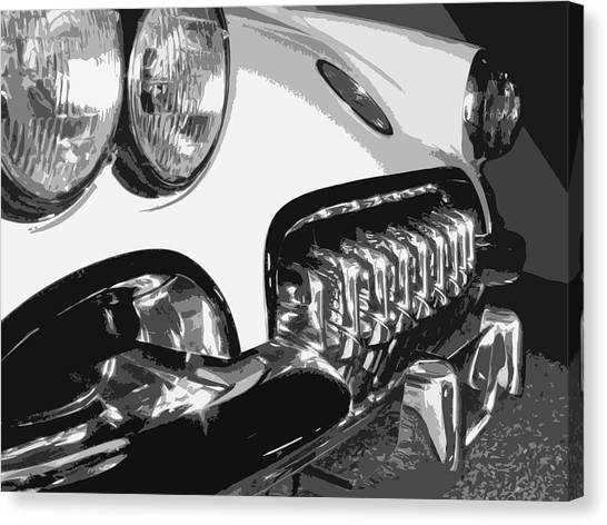 Dick Goodman Canvas Print - The Vette That Growled by Dick Goodman