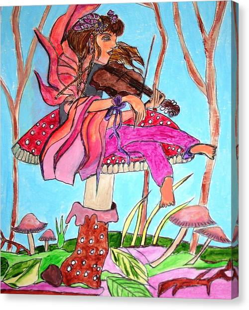 The Violinist Fairy Canvas Print