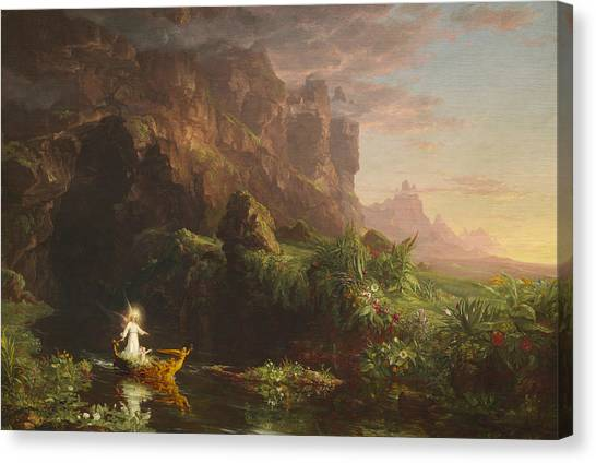 601685acf4 The Voyage Of Life Canvas Print - The Voyage Of Life, Childhood by Thomas  Cole