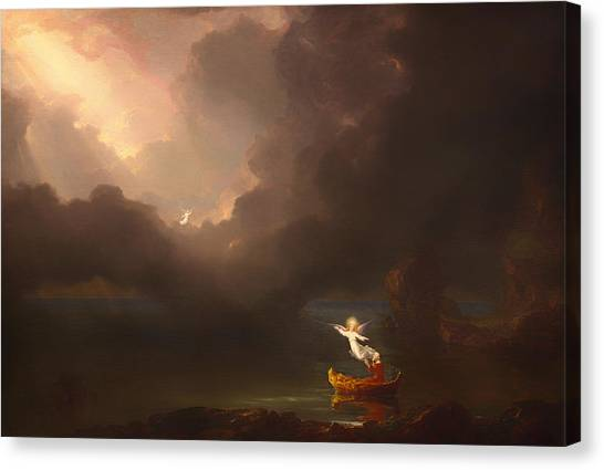 Canvas Print - The Voyage Of Life - Old Age by Thomas Cole