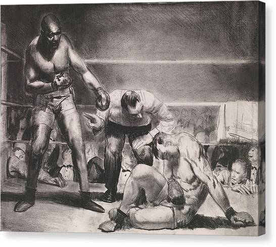Knockout Canvas Print - The White Hope by George Bellows