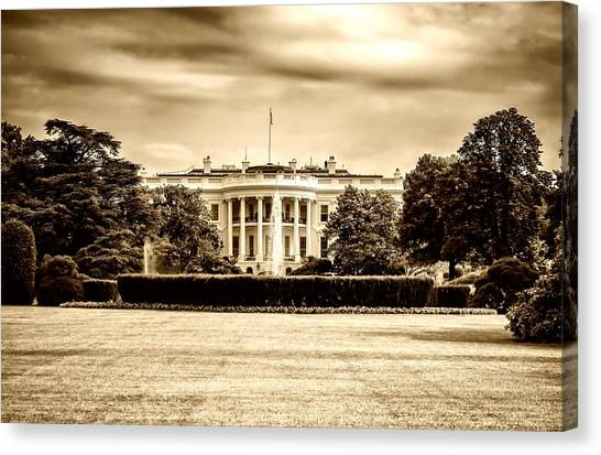 D.c. United Canvas Print - The White House by David Everett Strickler
