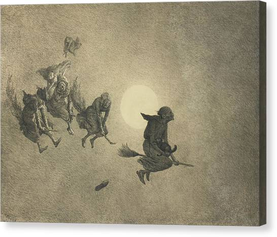 The Witches' Ride Canvas Print