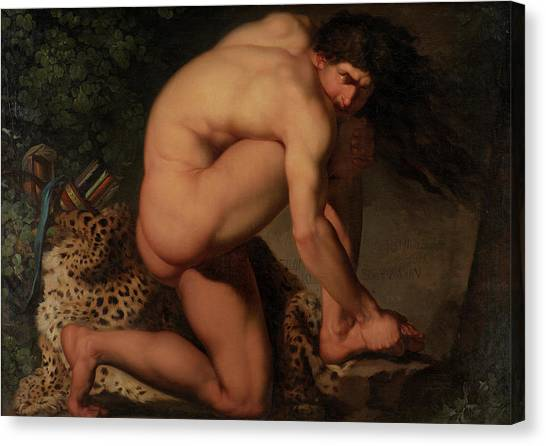 God Of War Canvas Print - The Wounded Philoctetes by Nicolai Abildgaard