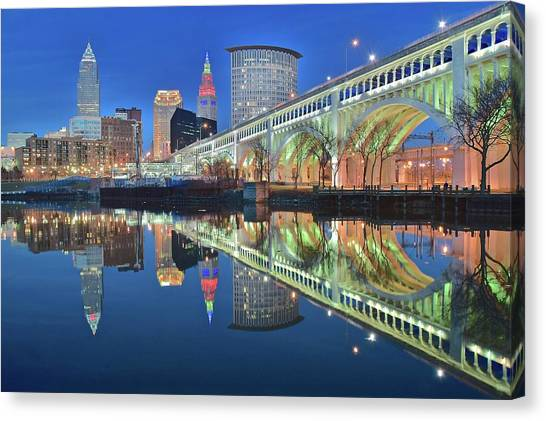 Cleveland Indians Canvas Print - This Is Cleveland II by Frozen in Time Fine Art Photography