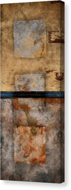 Torn Paper Collage Canvas Print - Three Squared Series Of Two by Carol Leigh