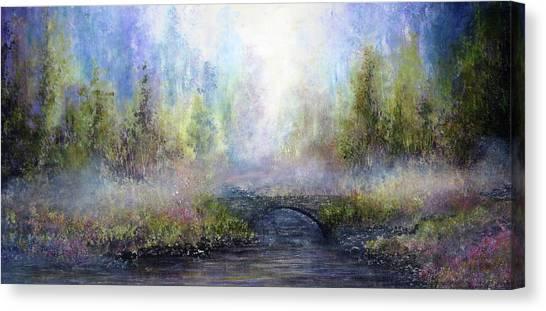 Through The Mist Canvas Print by Ann Marie Bone
