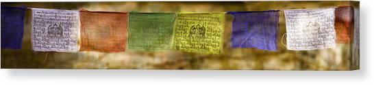 Tibetan Prayer Flags Canvas Print