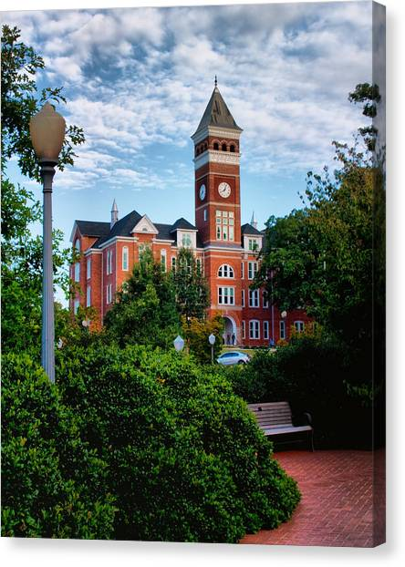 Clemson University Canvas Print - Tillman Hall by Lynne Jenkins