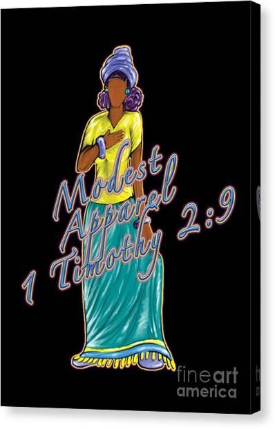1 Timothy 2vs.9 Modest Apparel Canvas Print
