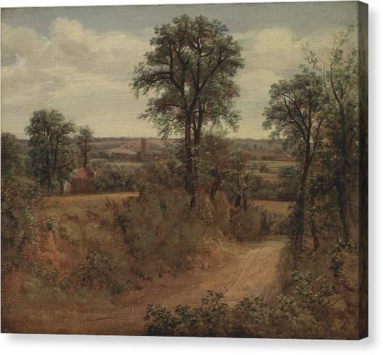 Dedham Canvas Print - Title Lane Near Dedham by MotionAge Designs