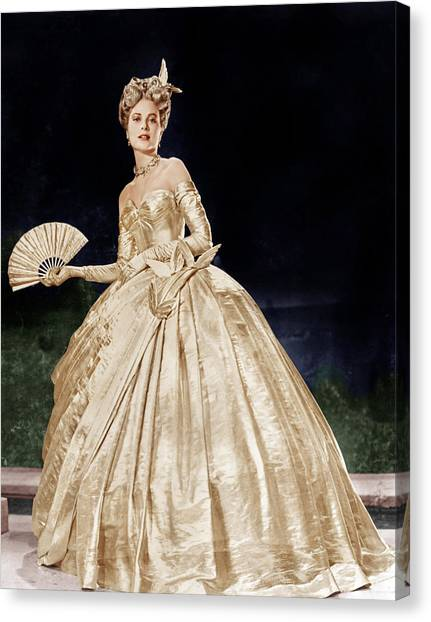 Beauty Mark Canvas Print - To Catch A Thief, Grace Kelly, 1955 by Everett