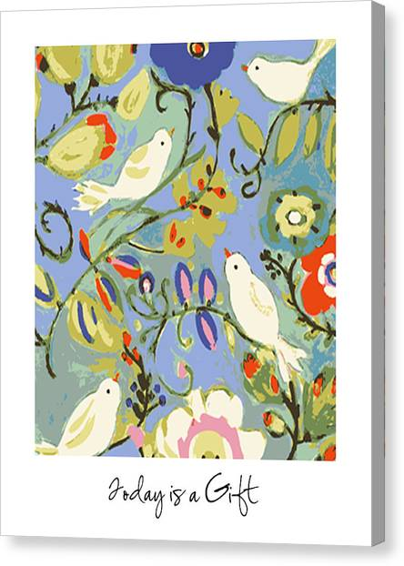 Today Is A Gift Canvas Print by Karen Fields