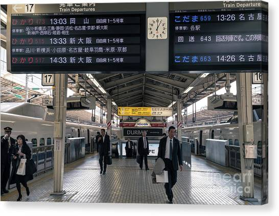 Bullet Trains Canvas Print - Tokyo To Kyoto, Bullet Train, Japan 3 by Perry Rodriguez