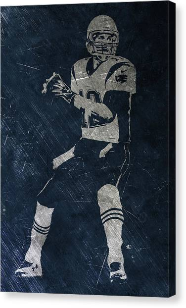 Tom Brady Canvas Print - Tom Brady Patriots 2 by Joe Hamilton