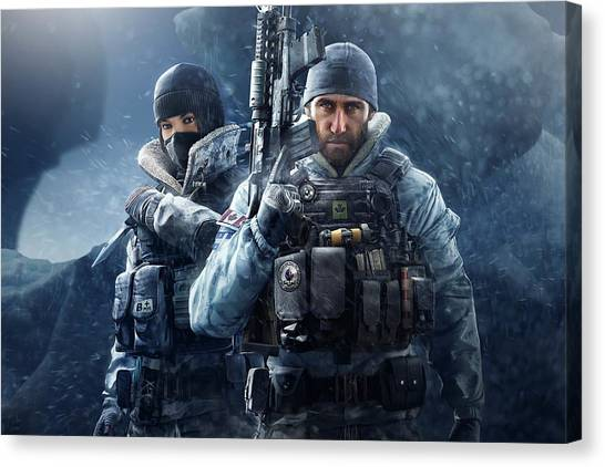Rainbow Six Canvas Print - Tom Clancy's Rainbow Six Siege by Lucie Malecot