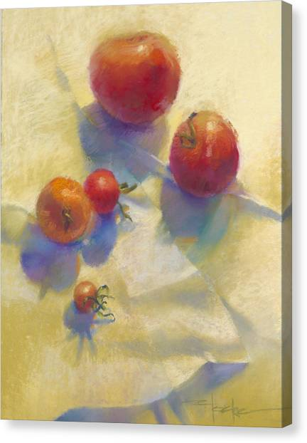 Tomato Blues Canvas Print by Cathy Locke
