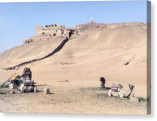 The Nile Canvas Print - Tombs Of The Nobles - Egypt by Joana Kruse