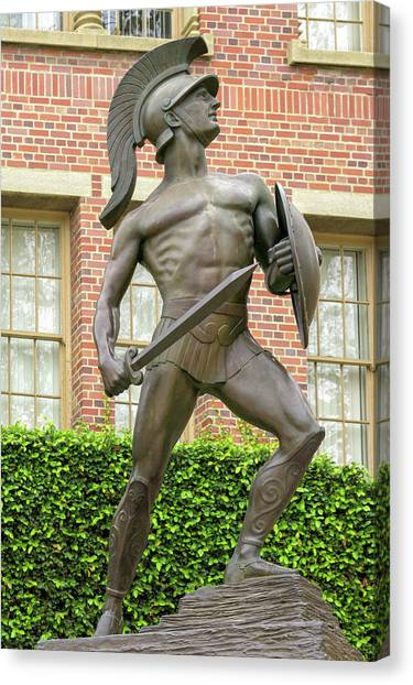 Troy University Troy Canvas Print - Tommy Trojan On The Campus Of The University Of California by Ken Wolter