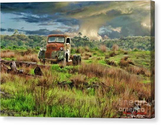 Tornado Truck Canvas Print