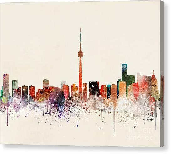 Toronto Skyline Canvas Print by Bri Buckley