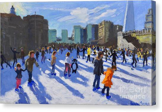 Tower Of London Canvas Print - Tower Of London Ice Rink by Andrew Macara