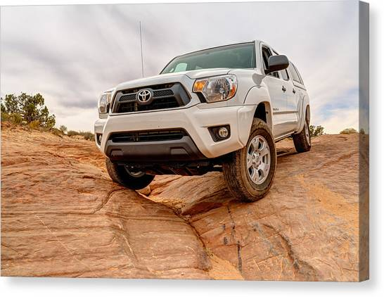 4x4 Canvas Print - Toyota Tacoma At Arches by Brett Engle