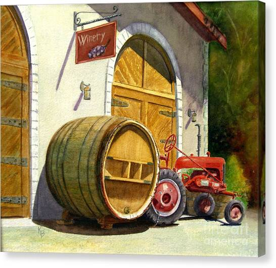 Winery Canvas Print - Tractor Pull by Karen Fleschler