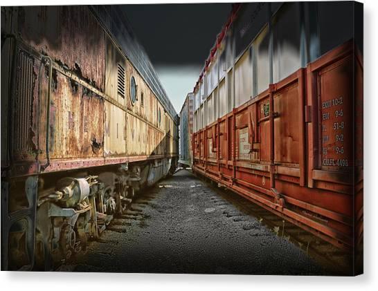 Thomas The Train Canvas Print - Train Yards 02 by Thomas Woolworth