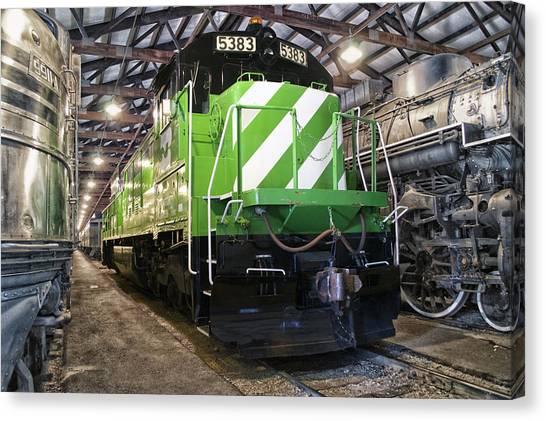 Thomas The Train Canvas Print - Trains Burlington Northern Locomotive 5383 by Thomas Woolworth